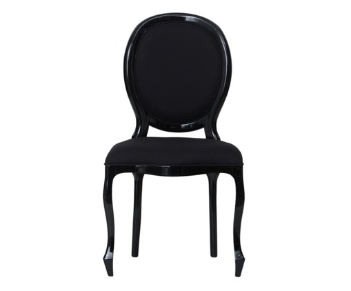 Cadeira Medalhão em Seda Pierce, preto | WestwingNow