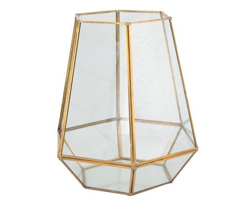 Vaso Iraê - Dourado, Dourado, Transparente | WestwingNow