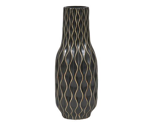 Vaso de Cerâmica Ivone - Preto, Preto | WestwingNow