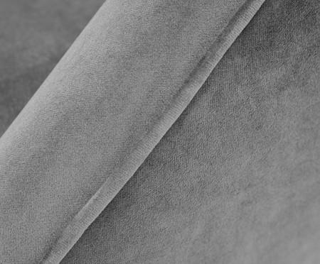 Poltrona Belle em Veludo - Cinza e Natural | WestwingNow