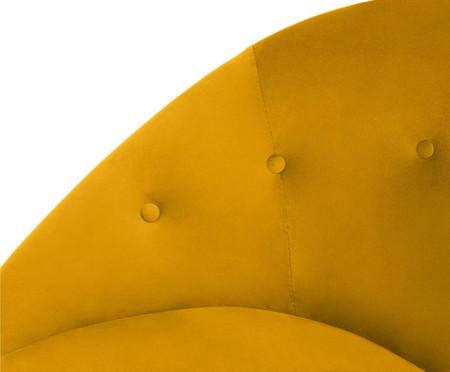 Poltrona Belle em Veludo - Açafrão e Natural | WestwingNow