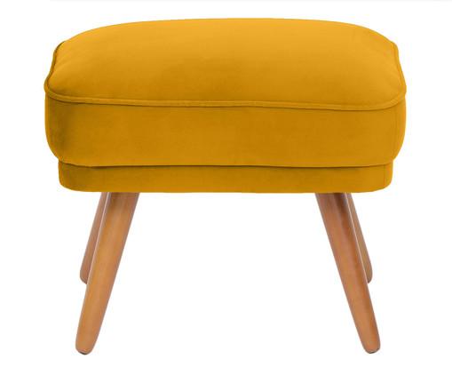 Pufe Belle em Veludo - Açafrão e Natural, amarelo,Natural | WestwingNow