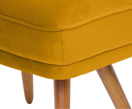 Pufe Belle em Veludo - Açafrão e Natural | WestwingNow
