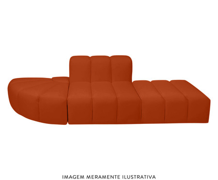 Módulo pufe sofá bud Tramê - Terracota | WestwingNow
