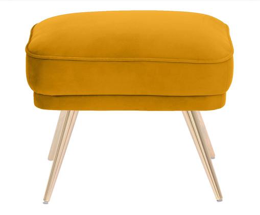 Pufe Belle em Veludo - Açafrão e Dourado, amarelo,Dourado | WestwingNow