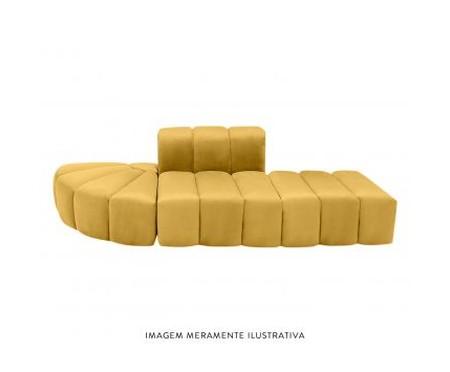 Módulo Pufe Sofá Bud em Veludo - Açafrão | WestwingNow