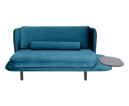 Sofá All In em Veludo - Azul Pavão | WestwingNow