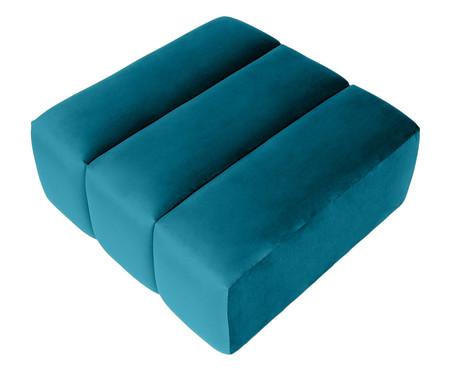 Pufe Bud Módulo em Veludo - Azul Pavão | WestwingNow