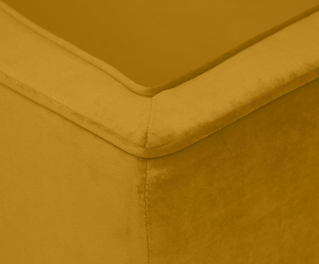 Sofá Day Bed Fasano em Veludo - Açafrão | WestwingNow