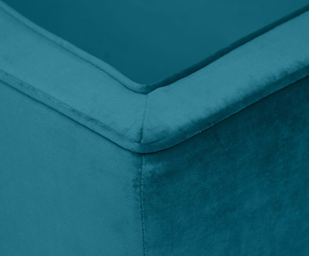 Sofá Day Bed Bergamo em Veludo - Azul Pavão | WestwingNow