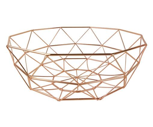 Fruteira de Metal Iago - Acobreada, Rosé | WestwingNow