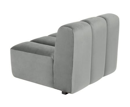 Módulo com Encosto para Sofá Bud em Veludo - Cinza | WestwingNow