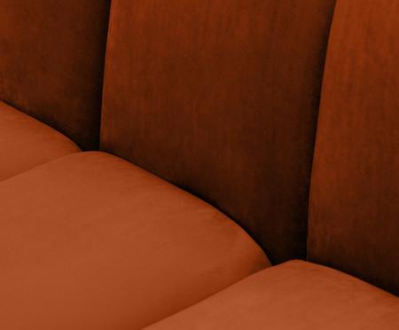 Módulo com Encosto para Sofá Bud em Veludo - Acobreado | WestwingNow
