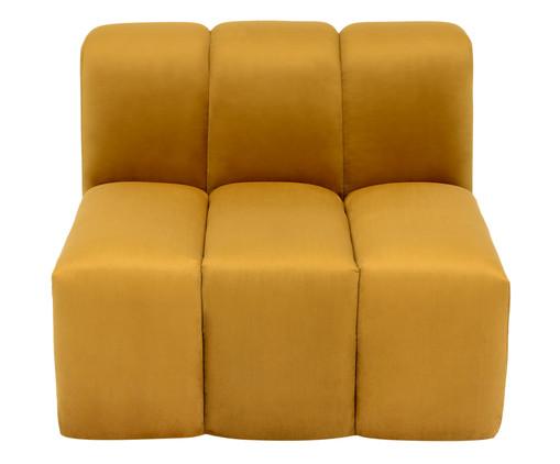 Módulo com Encosto para Sofá Bud em Veludo - Açafrão, amarelo | WestwingNow