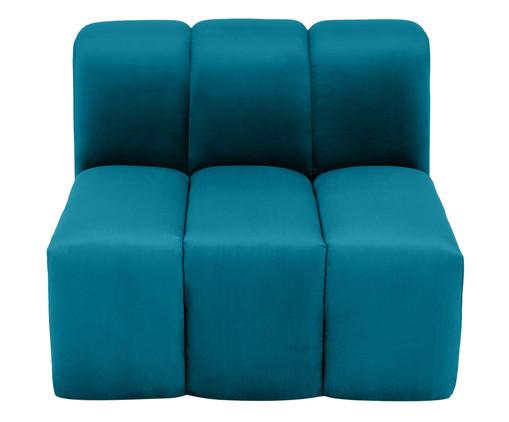 Módulo com Encosto para Sofá Bud em Veludo - Azul Pavão, Azul | WestwingNow