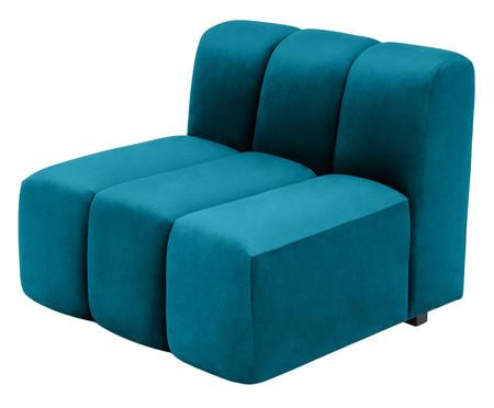 Módulo com Encosto para Sofá Bud em Veludo - Azul Pavão | WestwingNow