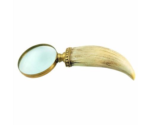 Lupa Decorativa Caiubi - Bege e dourado, Bege, Dourado   WestwingNow