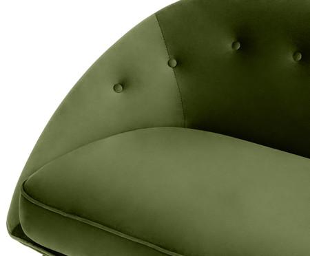Sofá Belle em Veludo - Verde e Natural | WestwingNow