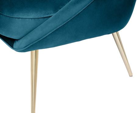 Sofá Belle em Veludo - Azul Pavão e Natural | WestwingNow