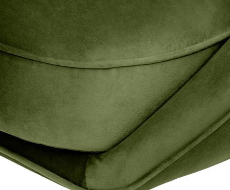 Sofá Belle em Veludo - Verde e Dourado | WestwingNow