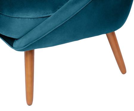 Sofá Belle em Veludo - Azul Pavão e Dourado | WestwingNow