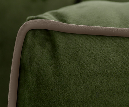 Sofá Windsor em Veludo - Verde com Vivo Cru | WestwingNow