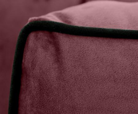 Sofá Windsor em Veludo - Rosa Chá com Vivo Preto | WestwingNow