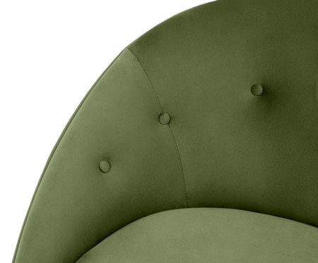 Poltrona Belle em Veludo - Verde e Natural | WestwingNow