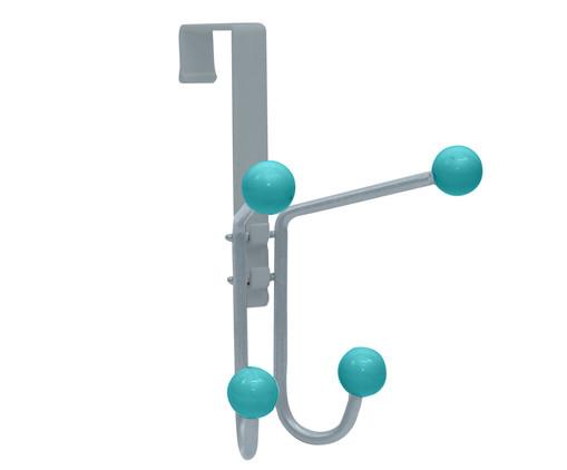 Cabideiro Hoxter - Prateado e Verde Menta, prata / metálico,verde | WestwingNow