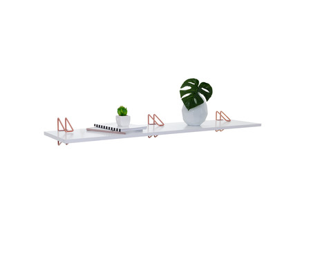 Prateleira Leimen - Branca e Acobreada | WestwingNow