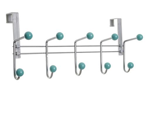 Cabideiro Hennef - Prateado e Verde Menta, prata / metálico,verde | WestwingNow