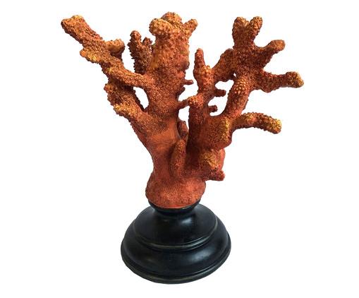 Adorno Decorativo em Resina Coral Wright - Vermelho e Preto, Laranja | WestwingNow