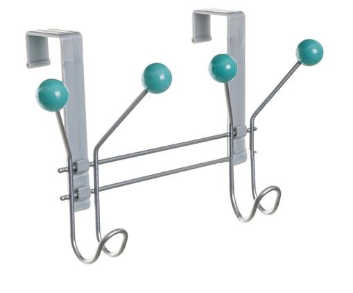 Cabideiro Apolda - Prateado e Verde Menta, prata / metálico,verde | WestwingNow