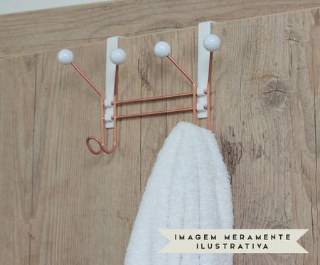 Cabideiro Apolda - Branco e Acobreado | WestwingNow