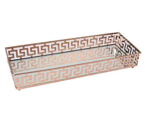 Bandeja Decorativa Espelhada de Metal  Luke - Acobreada, Rosé, Espelhado | WestwingNow