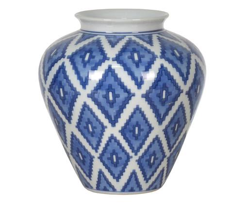 Vaso Ajyra - Azul e Branco, Branco, Azul | WestwingNow