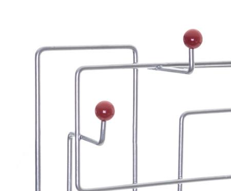Cabideiro Sinzig - Prateado e Vermelho | WestwingNow