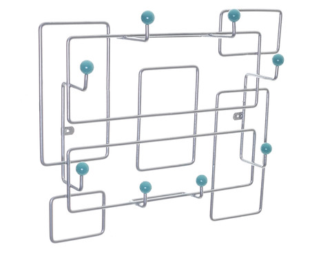 Cabideiro Sinzig - Prateado e Azul | WestwingNow