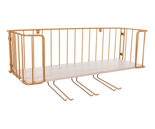 Prateleira Bar Ahlen - Branca e Dourada, dourado,natural | WestwingNow