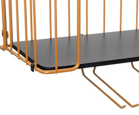 Prateleira Bar Ahlen - Preta e Dourada | WestwingNow