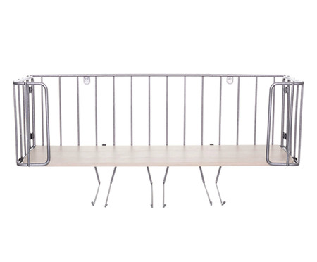 Prateleira Bar Ahlen - Prateada e Legno Crema | WestwingNow