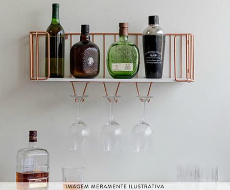 Prateleira Bar Ahlen - Branca e Acobreada | WestwingNow