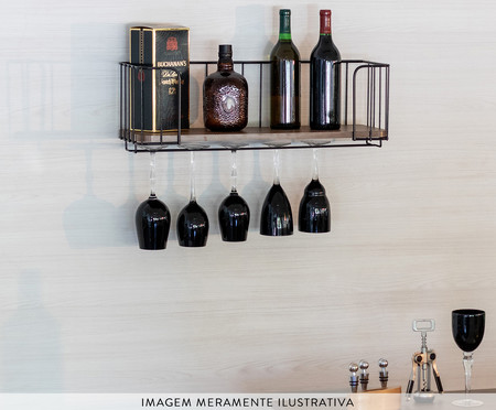 Prateleira Bar Ahlen - Preto Castanho Tannat | WestwingNow