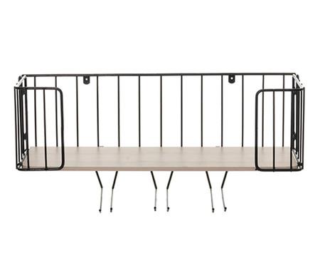 Prateleira Bar Ahlen - Preta e Legno Crema | WestwingNow