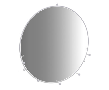 Espelho Cabideiro Esferas - Branco | WestwingNow