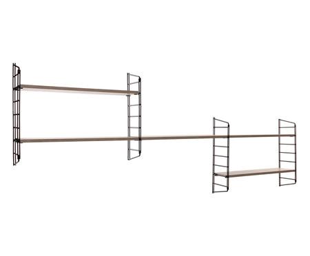 Prateleira Stella Diagonal - Preto e Legno Crema | WestwingNow