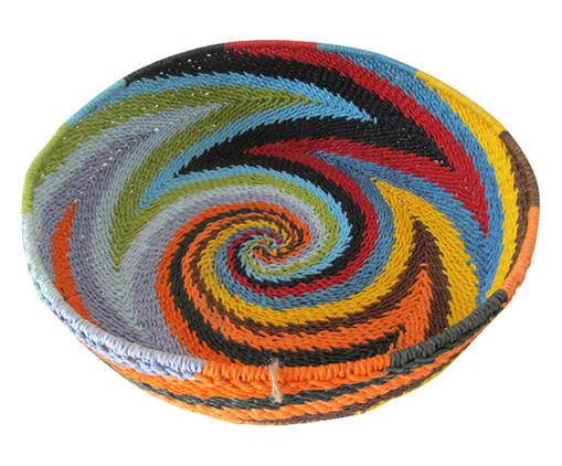 Fruteira Enzo - Colorida, Laranja, Amarelo, Azul, Colorido | WestwingNow