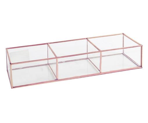 Porta-Objetos de Vidro Theo - Rosa e Transparente, Transparente, Rosé | WestwingNow