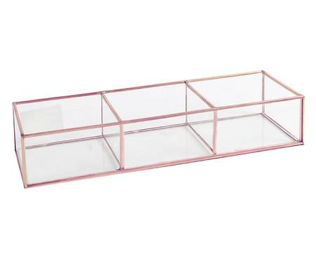 Porta-Objetos de Vidro Theo - Rosa e Transparente | WestwingNow
