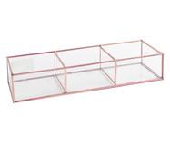 Porta-Objetos Theo - Acobreado e Transparente | WestwingNow